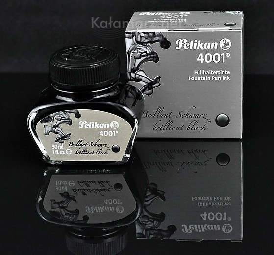 ATRAMENT Pelikan 4001 Brillian Black - czarny 30 ml