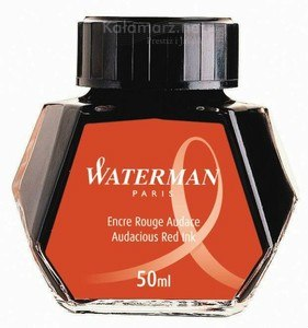 ATRAMENT Waterman RED/AUDACIOUS RED - czerwony 50 ml