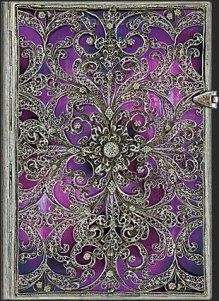 NOTES PAPERBLANKS SILVER FILIGREE AUBERGINE MINI LINIE
