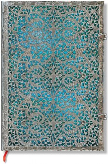 NOTES PAPERBLANKS SILVER FILIGREE MAYA BLUE MIDI LINIE