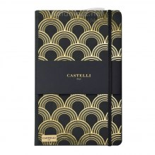 NOTATNIK NOTES CASTELLI IVORY GOLD - ART DECO