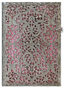 NOTES PAPERBLANKS SILVER FILIGREE BLUSH PINK MIDI LINIE