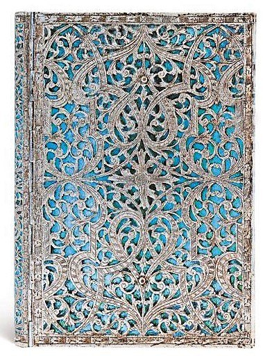 NOTES PAPERBLANKS SILVER FILIGREE MAYA Signature Editions BLUE MIDI LINIE