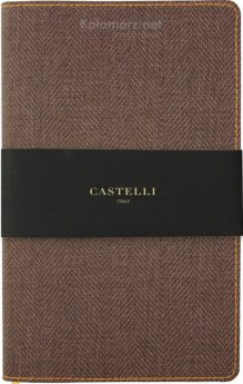 NOTATNIK NOTES CASTELLI HARRIS FLEX TABACCO BROWN